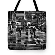 Market Square In The Rain - Knoxville Tennessee Tote Bag
