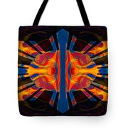 Marking Time Into Space Abstract Spiritual Artwork Tote Bag