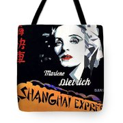 Marlene Dietrich Art Deco French Poster Shanghai Express 1932-2012 Tote Bag
