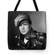 Marlon Brando In The Wild One 1953 Tote Bag