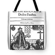 Marlowes Doctor Faustus Tote Bag