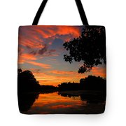 Marlu Lake At Sunset Tote Bag