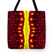 Maroon And Yellow Chrysanthemums 2 Polar Coordinates Effect Tote Bag