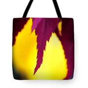 Maroon And Yellow Tote Bag