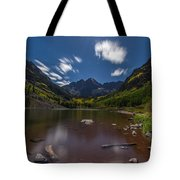 Maroon Bells At Night Tote Bag