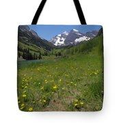 Maroon Bells Watercolor Tote Bag