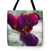 Maroon Iris Tote Bag