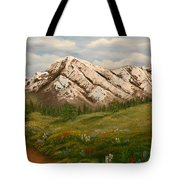 Maroon Trail Splendor Tote Bag