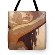 Marquetry Wood Work The Lady Tote Bag