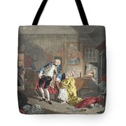 Marriage A La Mode, Plate V, The Tote Bag