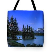 Mars Over Mt. Rundle Tote Bag