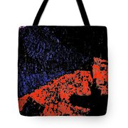 Mars Red Mountain Tote Bag
