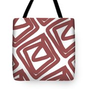 Marsala Envelopes- Abstract Pattern Tote Bag
