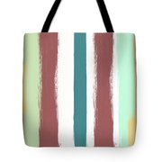 Marsala Stripe- Abstract Pattern Painting Tote Bag