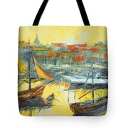 Marseille Harbour Tote Bag