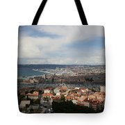 Marseille View From Cathedral Notre Dame De La Garde Tote Bag