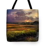 Marsh At Sunrise Tote Bag