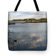 Marsh Boardwalk Tote Bag