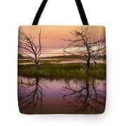 Marsh Oil Painting Tote Bag