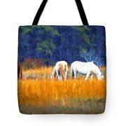 Marsh Ponies Tote Bag