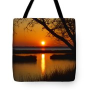 Ocean City Sunset At Old Landing Road Tote Bag