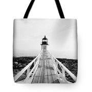 Marshall Point Approach - Black And White Tote Bag