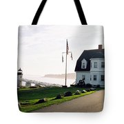 Marshall Point As Sunset Begins Tote Bag