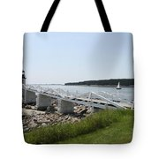 Marshall Point Light Station Tote Bag