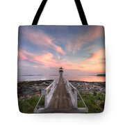 Marshall Point Sunset Tote Bag