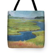 Marshes At High Tide Tote Bag by Claire Gagnon