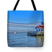 Marshes Lighthouse Tote Bag