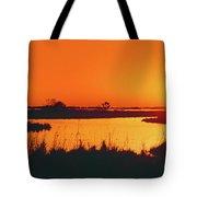 Marshland At Dusk, Bayou Country, Route Tote Bag