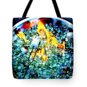 Marshmallow Fire Abstract Tote Bag