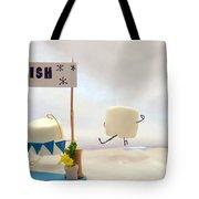 Marshmallow Marathon Tote Bag by Heather Applegate