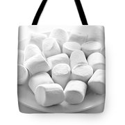 Marshmallows On Plate Tote Bag