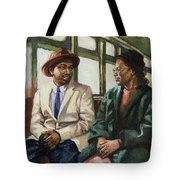 Martin And Rosa Up Front Tote Bag by Colin Bootman