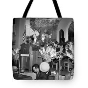 Martin Luther King Jnr 1929 1968 American Black Civil Rights Campaigner In The Pulpit Tote Bag