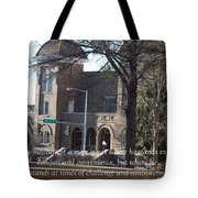 Martin Luther King Jr. And Sixteenth Street Baptist Church Tote Bag