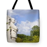 Martin Luther King Jr Memorial And The Washington Monument Tote Bag