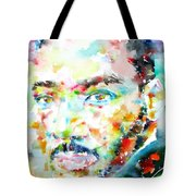 Martin Luther King Jr. - Watercolor Portrait Tote Bag