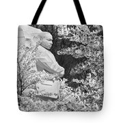 Martin Luther King Memorial Through The Blossoms Tote Bag by Mike McGlothlen