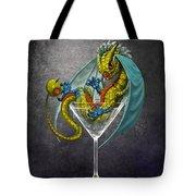 Martini Dragon Tote Bag