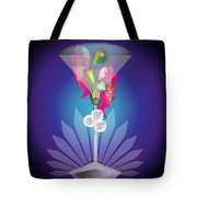 Martini Flower Tote Bag