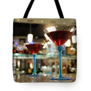 Martini Glasses In Bar Tote Bag