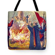 Martyrdom Of Ridley And Latimer, 1555 Tote Bag
