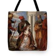 Martyrdom Of Saint Justina Tote Bag