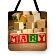 Mary - Alphabet Blocks Tote Bag