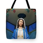 Mary And Grapes Tote Bag