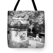 Mary And John Tyler Memorial Near Infrared Black And White Tote Bag