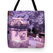 Mary And John Tyler Memorial Near Infrared Lavender And Pink Tote Bag